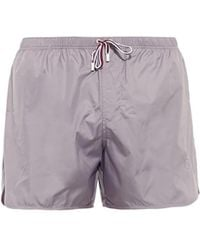 Gucci Contrast-Drawstring Swim Shorts - Lyst