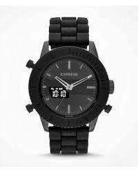 Express Analog And Digital Bracelet Watch - Gray - Lyst