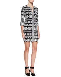 Diane Von Furstenberg Rose Printed Tunic Dress - Lyst