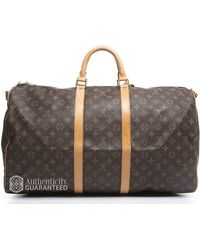 Louis Vuitton | Pre-owned Monogram Keepall 55 Bandouliere Bag | Lyst