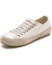 Pedro Garcia Parson Satin Sneakers - Porcelain - Lyst