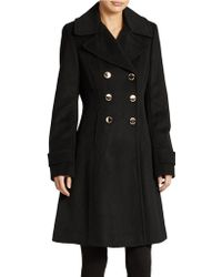 Ivanka Trump Double Breasted Dress Coat - Lyst