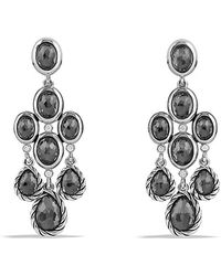 David Yurman Color Classic Chandelier Earrings with Hematine and Diamonds - Lyst