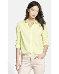 J Brand 'Venice' Button Front Blouse - Lyst