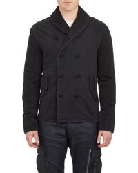 Ralph Lauren Black Label Double-Breasted French Terry Jacket - Lyst