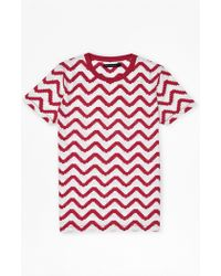 French Connection | Geo Herringbone Print T-shirt | Lyst