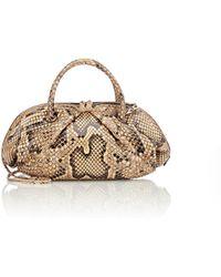 Zagliani - Python Maria Shoulder Bag - Lyst