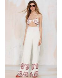 Bohemian Bones - Cadillac Embroidered Jumpsuit - Lyst