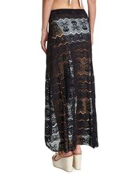 Letarte | Embroidered Lace Coverup Skirt | Lyst