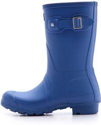 Hunter Original Short Boots Bright Cobalt - Lyst