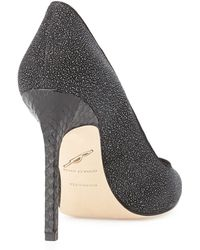 B Brian Atwood Naina Textured Suede Point-Toe Pump - Lyst