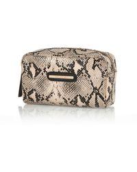 River Island Pink Snake Print Make Up Bag - Lyst