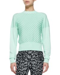 3.1 Phillip Lim Mixed-knit Cottoncashmere Sweater - Lyst
