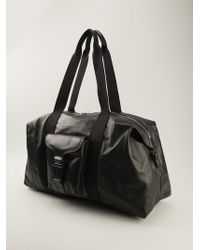 Alexander McQueen Black Holdall Tote - Lyst