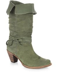Alice + Olivia Cabot Suede Self-tie Boots - Lyst