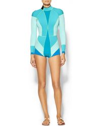 Cynthia Rowley Blue Colorblock Wetsuit - Lyst