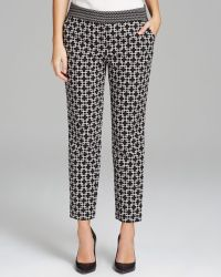 Adrianna Papell - Slim Fit Jacquard Trousers - Lyst
