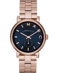 Marc By Marc Jacobs Women'S Baker Rose Gold-Tone Stainless Steel Bracelet Watch 36Mm Mbm3330 - Lyst