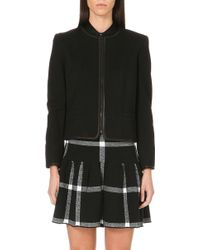 Alice + Olivia Cropped Knitted Jacket - Lyst