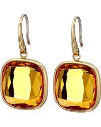 Michael Kors Botanicals Gold & Single Blue Stone Drop Earring - Lyst