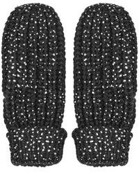TOPSHOP - Sno Silver Foil Print Mittens - Lyst