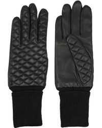 Rag & Bone Quilted Leather Gloves black - Lyst
