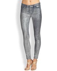 Marchesa Voyage - Jacquard Foil Skinny Jeans - Lyst