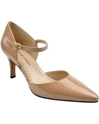 Adrienne Vittadini Jon Suede Ankle-Strap Pumps - Lyst
