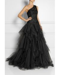 Marchesa Embellished Lace and Tulle Gown - Lyst