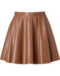 RED Valentino Leather Flared Skirt - Lyst