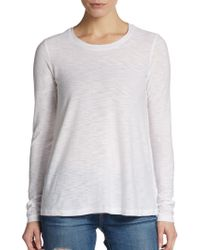 James Perse Heathered Cotton Blend Tee - Lyst