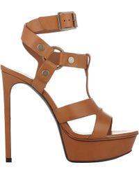 Saint Laurent - Harness-strap Bianca Platform Sandals - Lyst