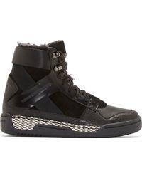 Y-3 Black Held Ii High_Top Sneakers - Lyst
