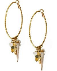 Sam Ubhi - Mixed Charms Hoop Earrings - Lyst