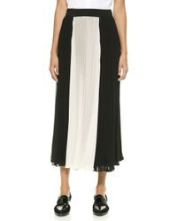 Madewell Anabelle Colorblock Pleated Skirt - Bright Ivory - Lyst