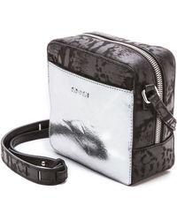 McQ by Alexander McQueen Cross Body Bag - Silver/Dark Black - Lyst