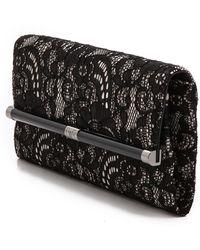 Diane Von Furstenberg 440 Lace Envelope Clutch - Blacknude - Lyst