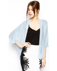 Asos Kimono blue - Lyst