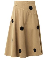 Band Of Outsiders Floral Appliqué Chino Skirt - Lyst