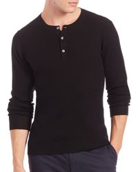 Saks Fifth Avenue Collection | Wool-blend Henley | Lyst