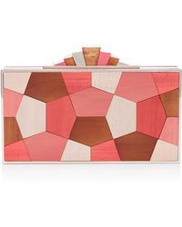 Lela Rose - Blush Mosaic Rectangle Minaudiere - Lyst