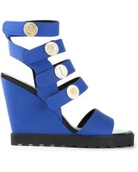 Kenzo Strappy Wedge Sandals - Lyst
