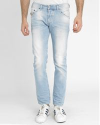Diesel Blue Used Belther Slim-Fit Jeans blue - Lyst