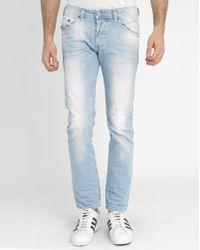 Diesel Blue Used Belther Slim-Fit Jeans - Lyst