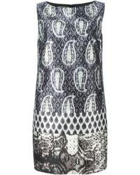 Giambattista Valli Mixed Print Shift Dress - Lyst