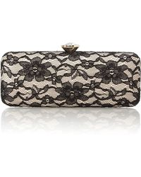 Love Moschino Black Evening Lace Clutch Bag - Lyst