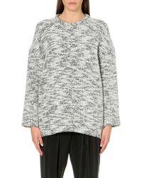 Helmut Lang Oversized Knitted Jumper Grey - Lyst