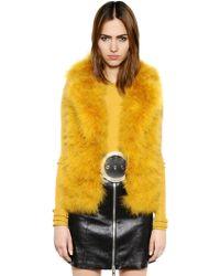 Sonia Rykiel - Turkey Feather Fur Effect Vest - Lyst