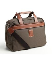 Longchamp Olive 'Boxford' Leather Trim Travel Bag - Lyst