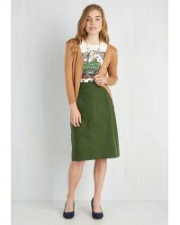 pink martini aptitude for skirt in forest green lyst